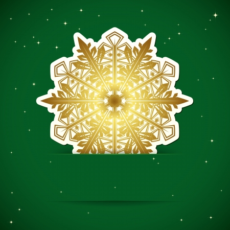 Christmas background. Snowflake inserted into a slot on the paper card. Vector illustration. Stock Vector - 18004800