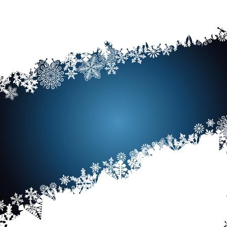 snowflake border: Christmas border, snowflake design background. Illustration