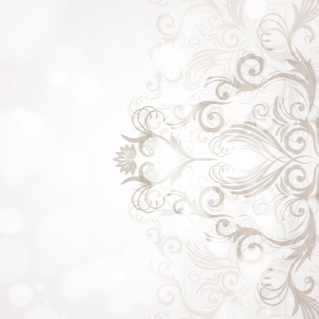 abstract floral background: Abstract floral background