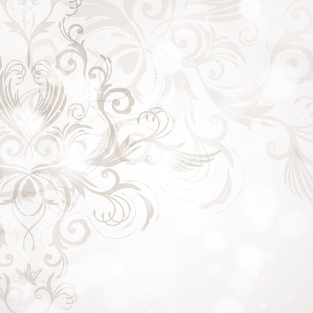 swirl background: Abstract floral background