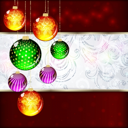 Background with Christmas balls Stock Vector - 18131215