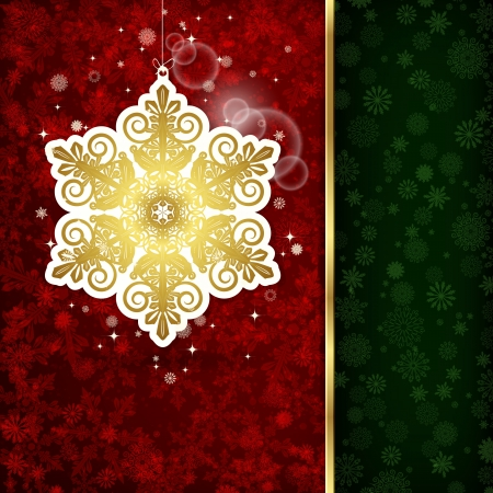 Background with Christmas decoration and snowflakes, illustration. Stock Vector - 18154937