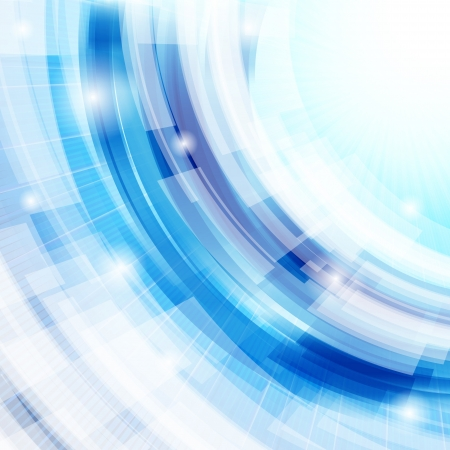 techno abstract blue background Vector