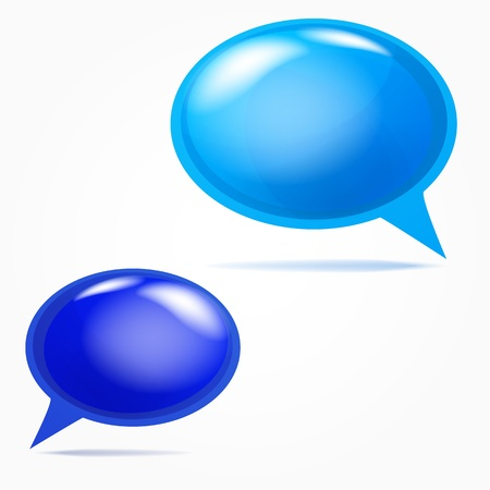 Plastic bubbles for speech Stock Vector - 18383887