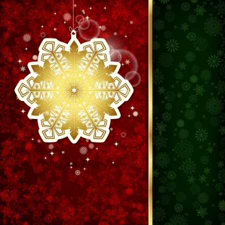 Background with Christmas decoration and snowflakes, illustration.  Stock Vector - 18407142