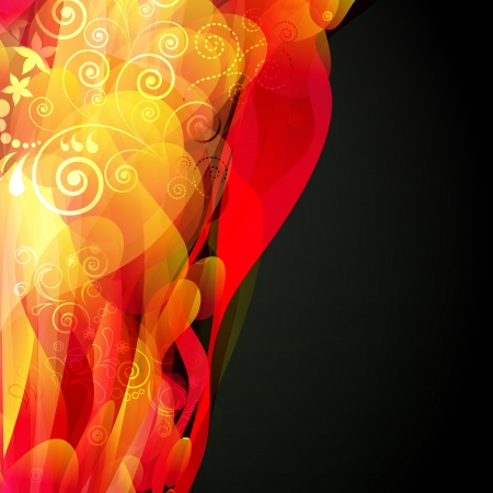 Abstract fluid floral background. Vector.  Vector