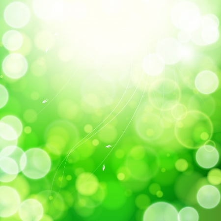 Green spring abstract nature background. Vector