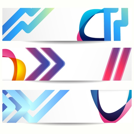 Abstract banner with forms of empty frames for your web design. Stock Vector - 18551828