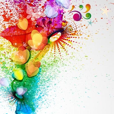 carnival background:  Floral design background.