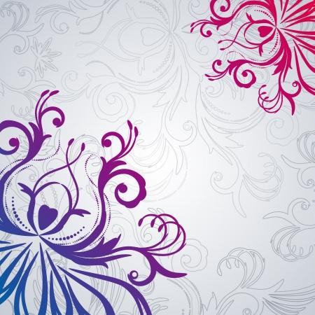 Abstract vector floral achtergrond met oost bloemen.