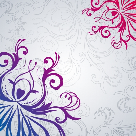 Abstract vector floral background with east flowers.