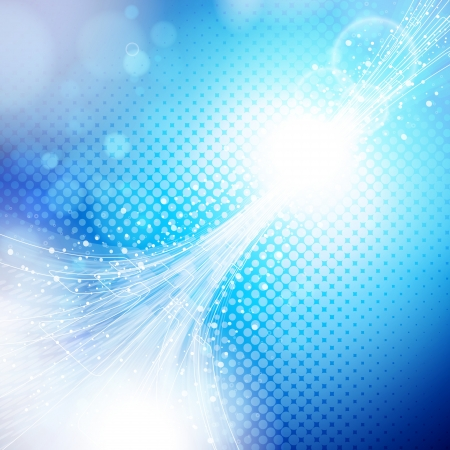 hi tech background: abstract blue and light background