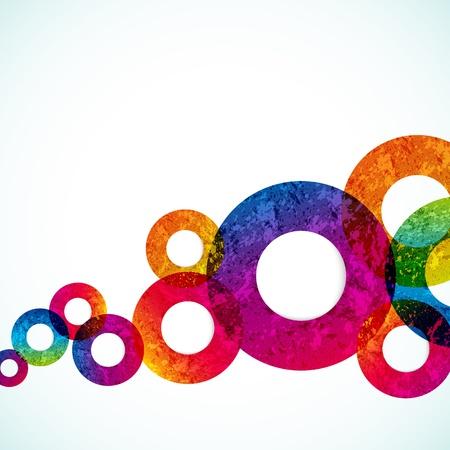 circle design: abstract design circles background. vector Illustration