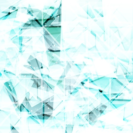 ice cubes: Abstract light turquoise techno background. Vector illustration  Illustration