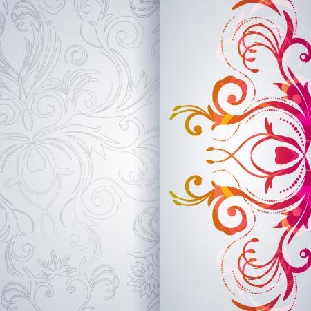 Abstract vector achtergrond met florale punt.