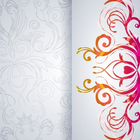 romantic: Abstract vector background with floral item.
