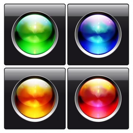 glass design elements Stock Vector - 19918846