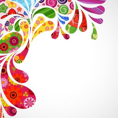 carnival background: Floral and ornamental item background. Illustration