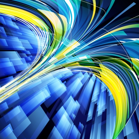 Abstract techno lines vector background. Eps 10