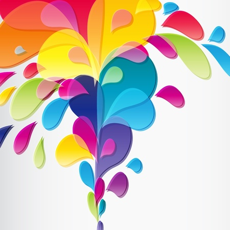 h20: Colorful background with drops Stock Photo