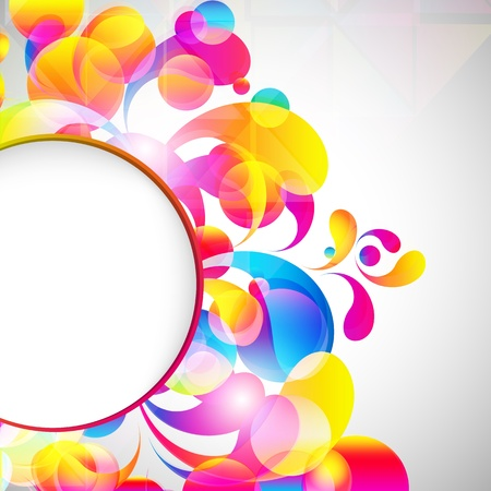 blank poster: Card background. Abstract bright color drops and clean place for your text. Illustration
