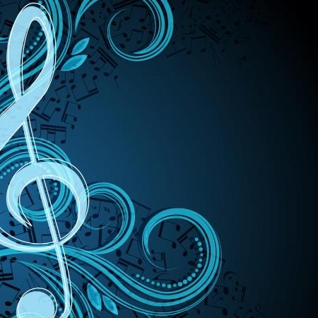 Note de fond vectoriel musicale Banque d'images - 20910751