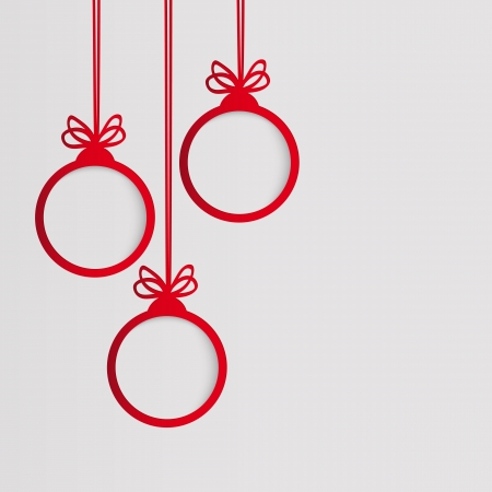 Christmas ball in the form of an empty frame for your text  Vector