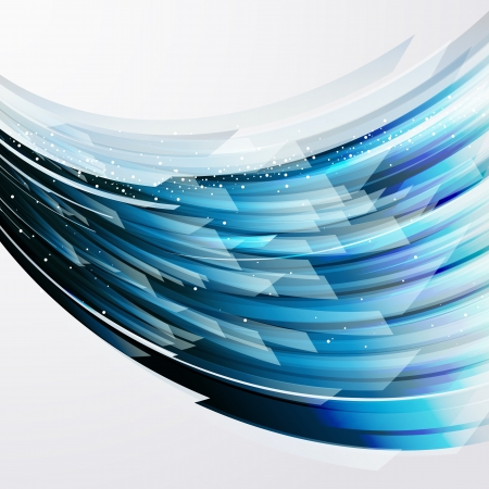 abstract vector background wiht transparent blue-gray elements Imagens - 20921381