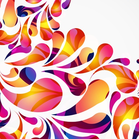 Decorative background made of colorful arc drops. Vector