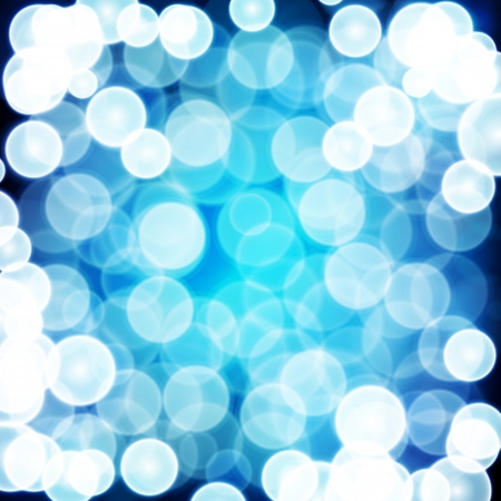 Blue festive background. Elegant abstract background with bokeh defocused lights. Stock Vector - 20925004