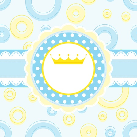 royal blue background: Royal baby vector background