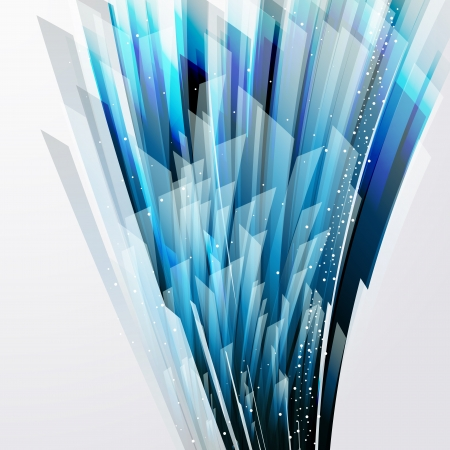 abstract vector background wiht transparent blue-gray elements.