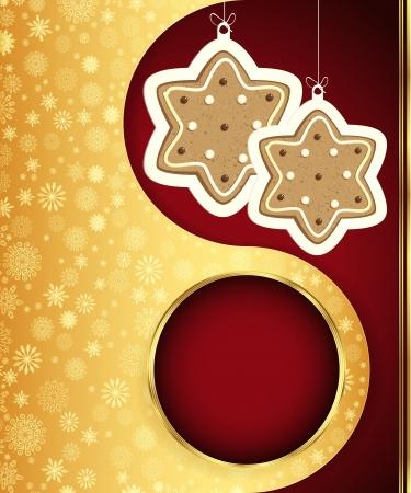 spice cake: Christmas background.