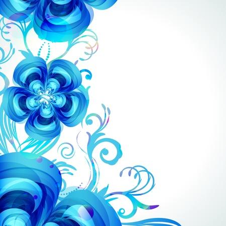 Decoration floral background. Vector