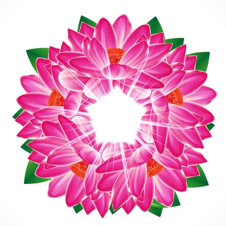 lily flower: Waterlelie bloem achtergrond Stock Illustratie