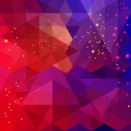 a pink cell: Abstract colorful triangle pattern background  Vector   Illustration