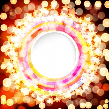 Abstract digital background with a round space for your text  Vector