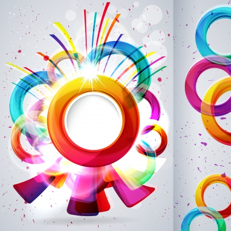 Abstract background with vector design elements  Vector