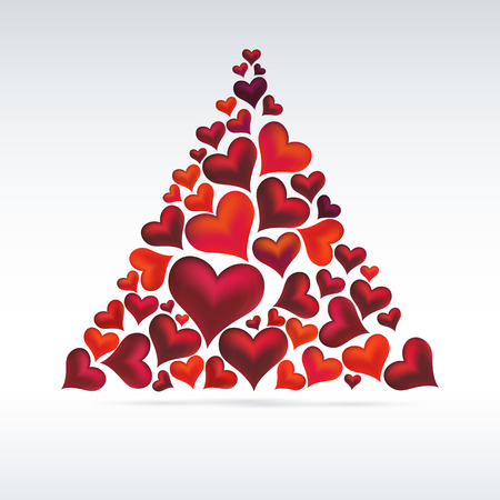 contemporary design: Christmas card hearts design  Abstract background