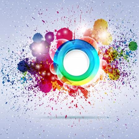 Fondo multicolor abstracto. Ilustración vectorial. Ilustración de vector