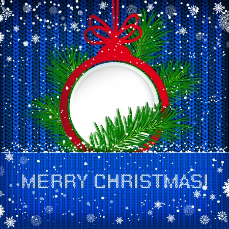 knitted background: Christmas knitted background. Vector illustration. Illustration