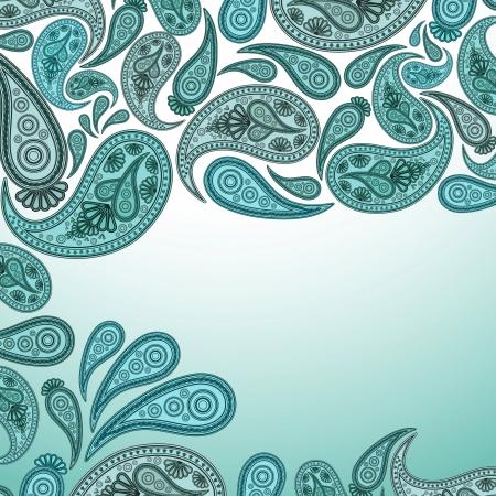 persia: Paisley Oriental decor background  Vector illustration  Illustration