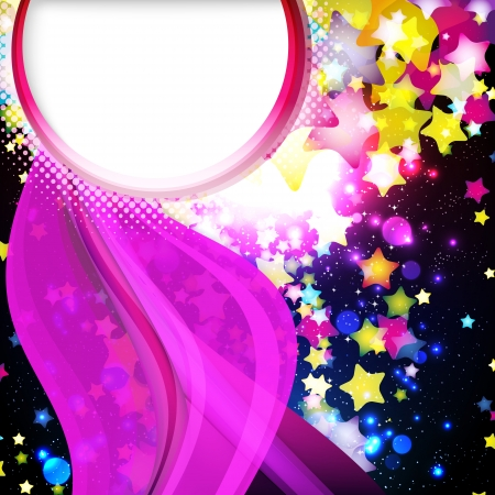 starfall: Bright colorful flying stars on a fantastic design background  Vector Illustration