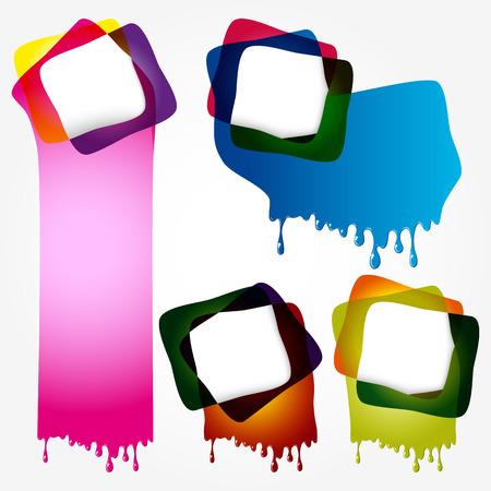 Multicolorful speech bubbles with drops Stock Vector - 24051881