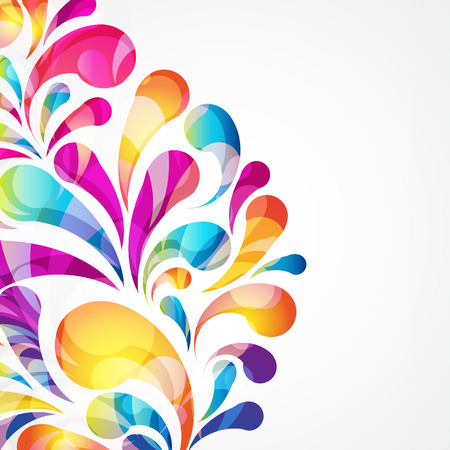 digital art: Abstract colorful arc-drop background  Vector
