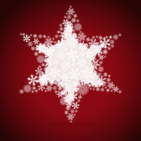 Christmas box, snowflake design background. Vector