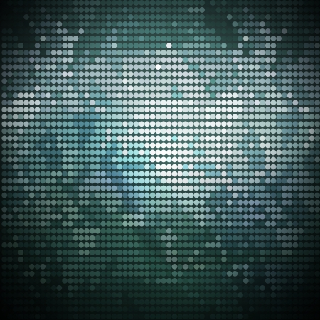 Abstract turquoise techno background, vector. Vector