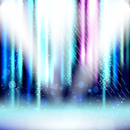 Spotlight background with light show effects. Vector