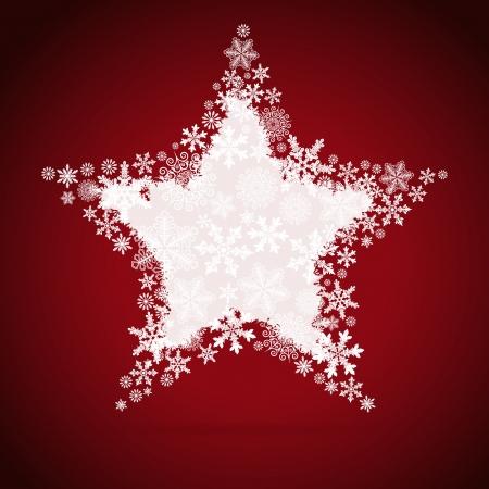 estrellas de navidad: Estrella de Navidad, copo de nieve de fondo de diseño.