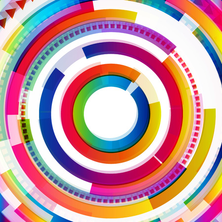 Abstract digital circles background Vector